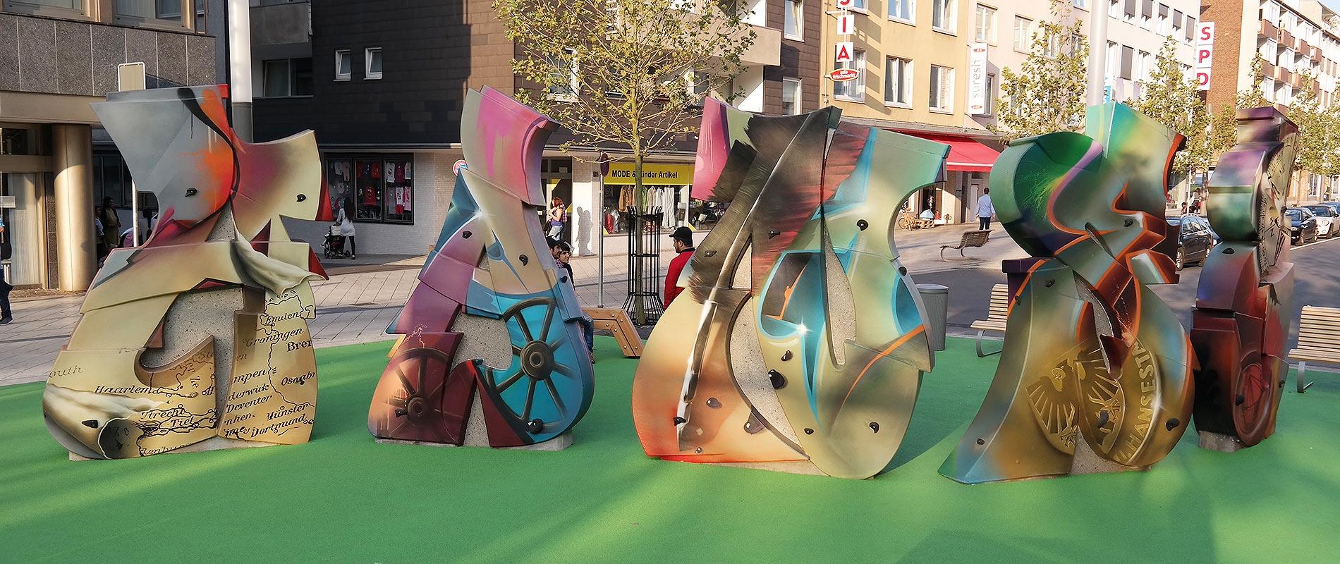 Kunst & Freizeit, organischen Freiformen, von Betonkünstler gestaltet, Freizeitanlagen, Spielplatz