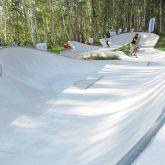 X-Move Planung und Umsetzung von Skateanlagen Skateparks Ramp Bowl Beton Rampen Skateplaza Landesgartenschau Oelsnitz