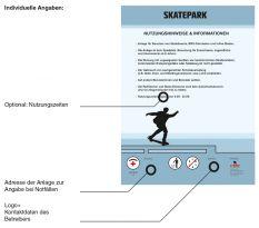 X-Move Skateanlagen Hinweisschild
