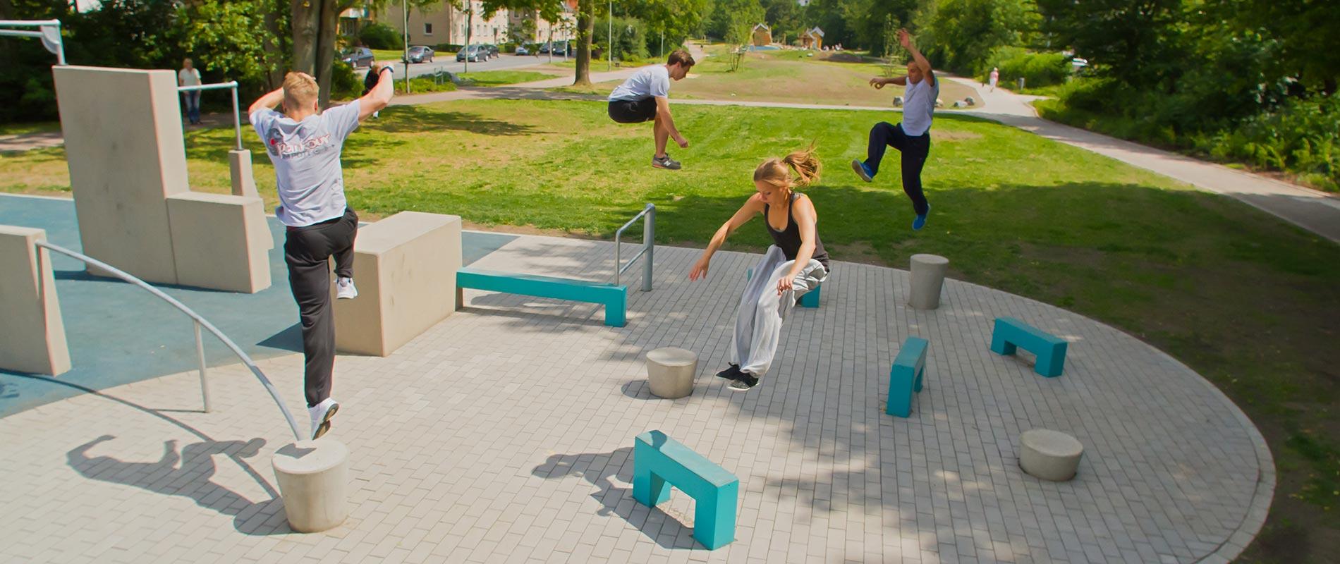 X-Move Parkourlauf Freerunning Traceur Parkouranlagen Herne  - Planung und Umsetzung